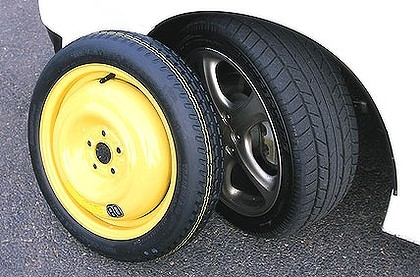 image: Space saver tyre yellow